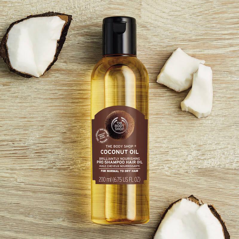 天然清爽洗頭方案!THE BODY SHOP全新護髮系列 - TheBodyShop CoconutOil BrilliantlyNourishing Pre shampoo HairOil 3 - 天然清爽洗頭方案!THE BODY SHOP全新護髮系列