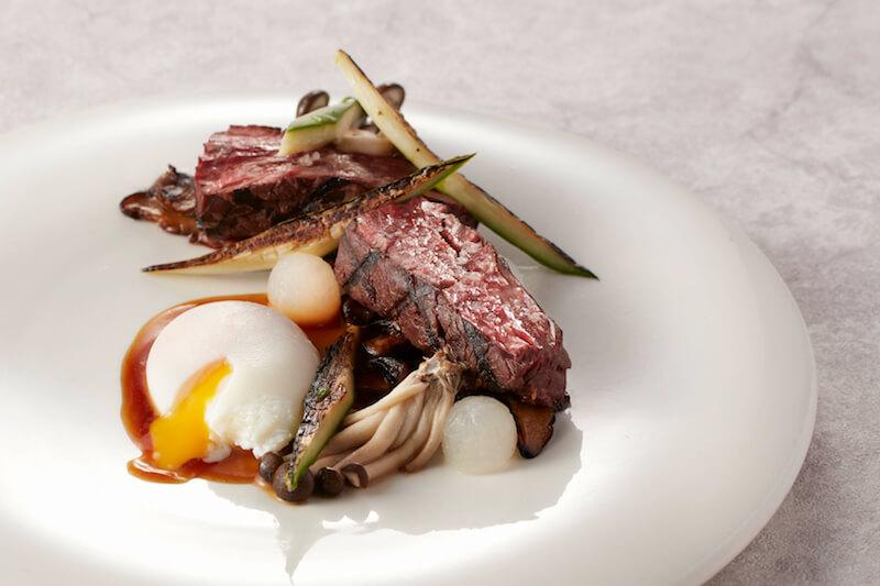 - Teriyaki Hanging Steak with Daikon Asparagus Fungus Poached Egg and Madeira Dressing - 1蚊歎龍蝦!Watermark 10週年海鮮盛宴