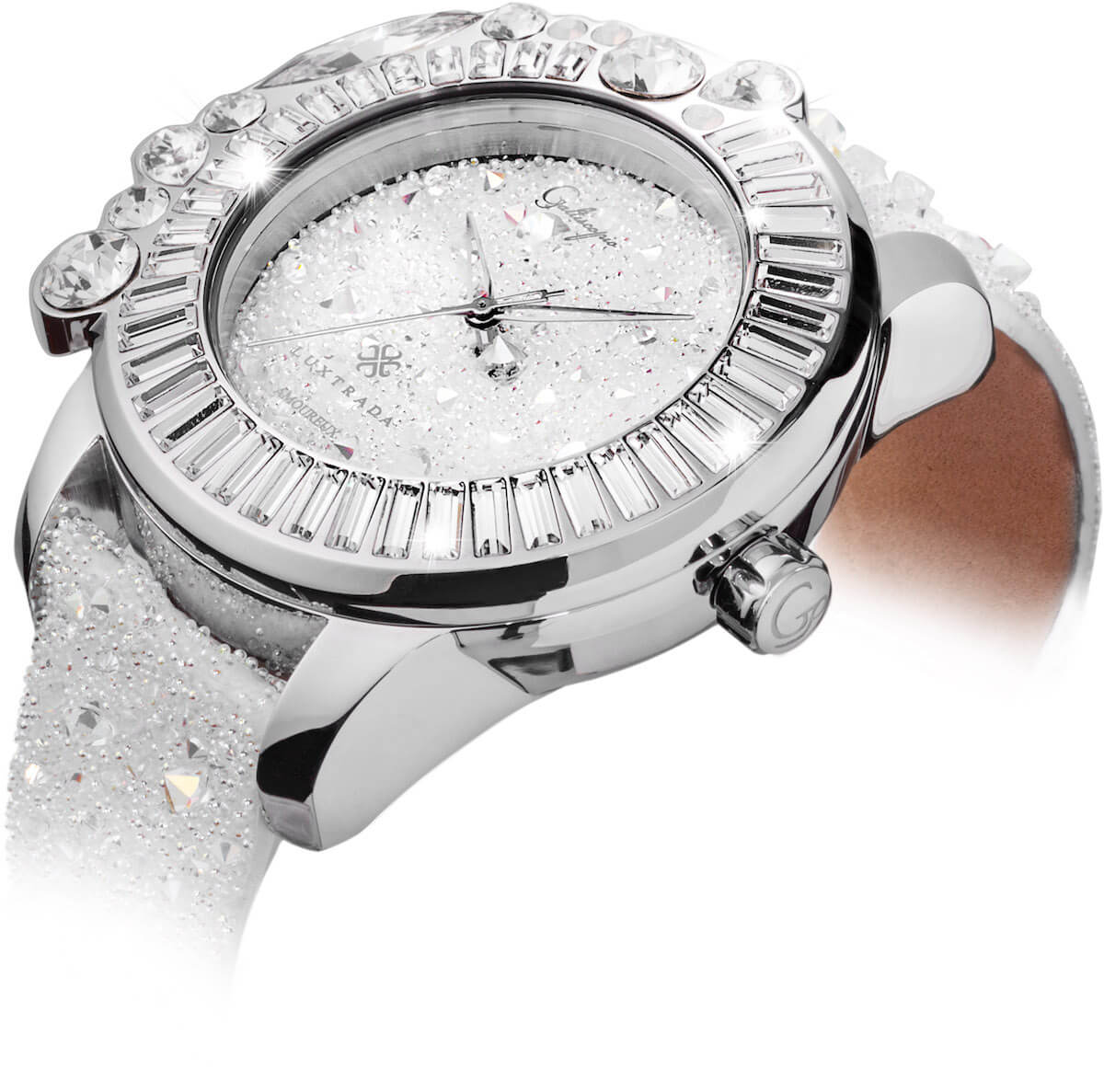 超閃!galtiscopio迦堤浪漫派水晶腕錶 超閃!GALTISCOPIO迦堤浪漫派水晶腕錶 AUSS001SWLS S