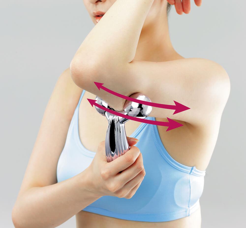 美容滾輪不止可V面!學會9個使用方法令皮膚全面緊緻、提升、去水腫 ReFa CARAT RAY Instruction for Upper Arm