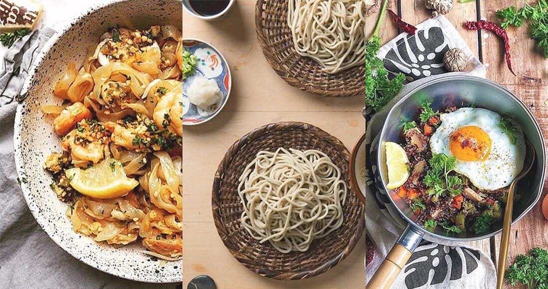 若你是飯麵愛好者,也可以挑一些比較健康低卡的麵及麥類來充加飽足感啊!
