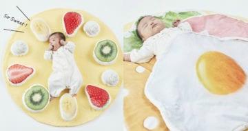 班戟毛毯把Baby包起來太可愛了吧!