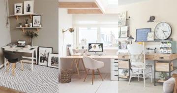 Home office是時候佈置一下書桌,讓整潔的氛圍來提升工作效率。來尋找設理想工作空間的靈感吧!
