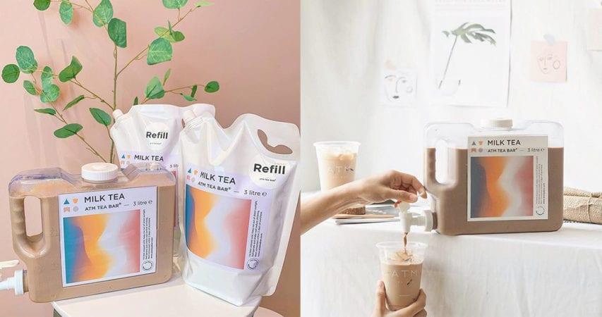 奶茶粉福音!泰國奶茶店ATM Tea Bar推出3L家庭裝奶茶,讓你回家慢慢品嚐