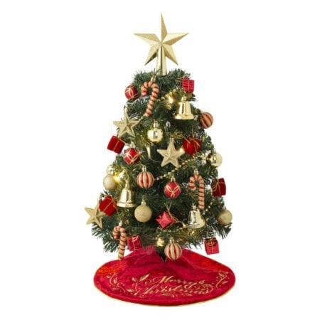 Francfranc - FrChristmas TreeStarter Set Color: Green / Pink Price:$480 (60cm) /$980 (150cm) ※包含 : 聖誕樹、燈泡、樹頂星星、精緻掛飾及樹裙毯子