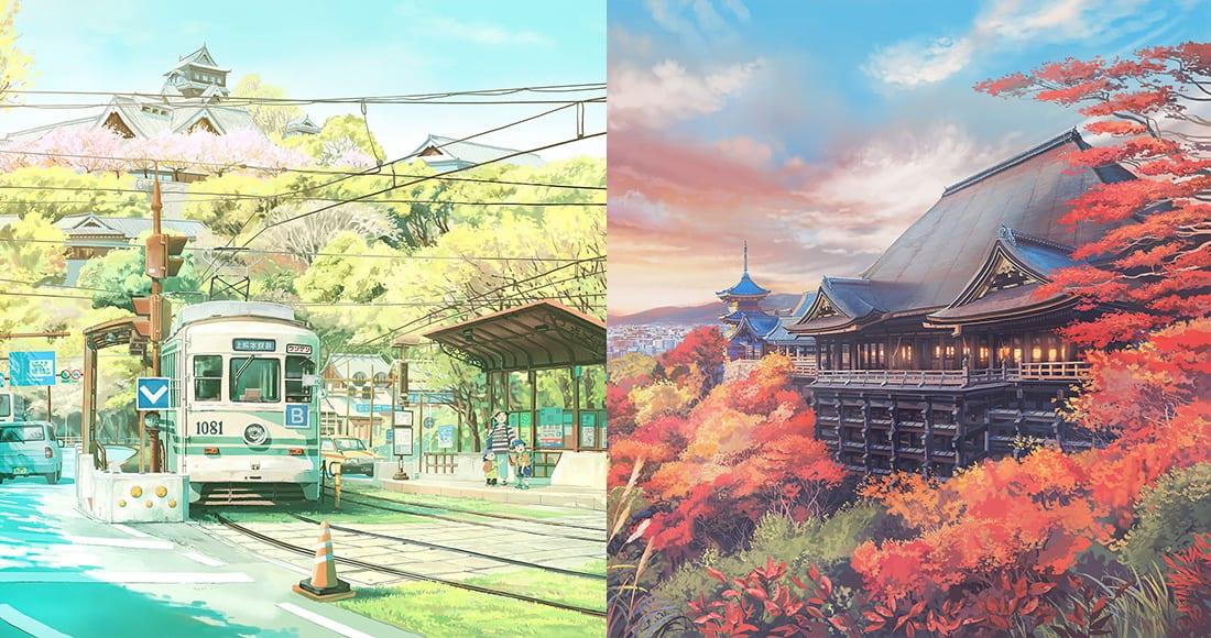 《你的名字》的背景插畫師,將日本12個月的特色畫出來,每張都未得想用來當桌布!